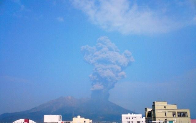 桜島噴火直後